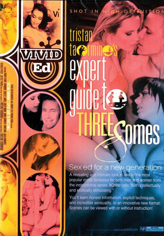 DVD cover of Tristan Taormino's Expert Guide to Threesomes, porn film directed by Tristan Taormino