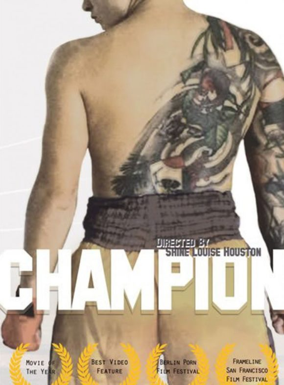 DVD cover of Champion, queer porn directed by Shine Louise Houston