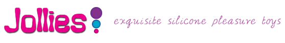 """Jollies logo which reads, """"exquisite silicone pleasure toys"""""""