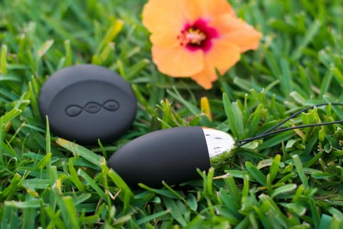 LELO Lyla remote controlled vibrator, lying in the grass in Maui.