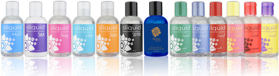 Just a few of the lubes Sliquid makes. This doesn't even include the Organics line.