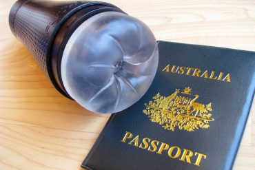 Fleshlight Flight with a fake Australian passport, because why not. It wants to travel.