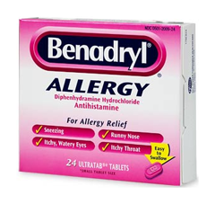 Box of allergy pills.