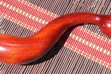 NobEssence Seduction in Padauk wood, lying out in the sun.