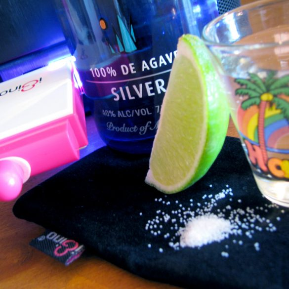 iGino partying with a tequila shot,.