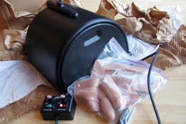 The Sybian... and packing materials.