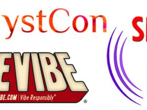 Various logos: CatalystCon, SheVibe, Sex Out Loud Radio