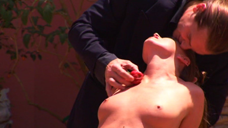 Tori Black and Evan Stone... and a strawberry... in Kayden Exposed