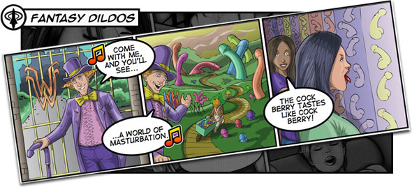 SheVibe's selection rules, just like this comic for fantasy dildos