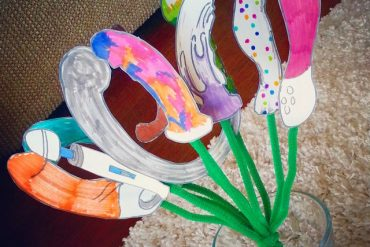 Bouquet of hand drawn sex toys.