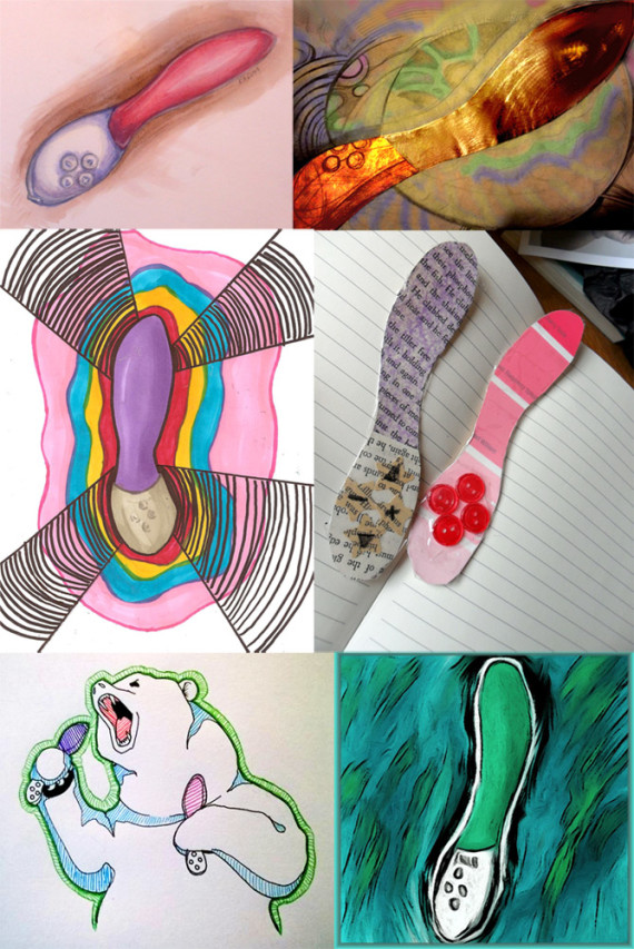 Artistic representations of the LELO Mona 2