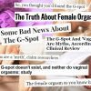 Scare-tactic G-spot headlines complete with stock photos of women and feet.