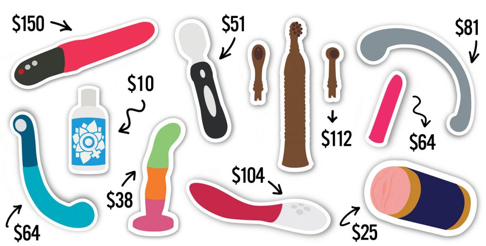 Graphic showing the sex toys with great deals this Black Friday and Cyber Monday.