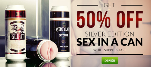 50% off Sex in a Can Fleshlights this Black Friday!