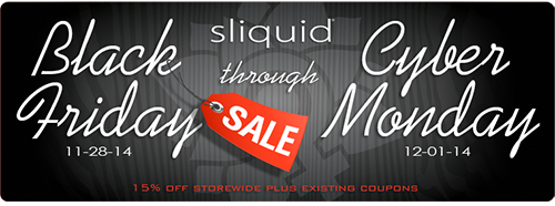 15% off Sliquid and Ride lube this Black Friday and Cyber Monday