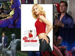 Klitzy (Paul Dano) and Eli (Chris Marquette) in The Girl Next Door. Note the Vivid Video hat.