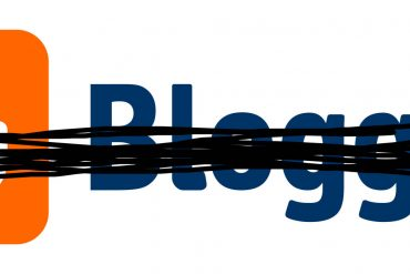 Blogger logo crossed out.