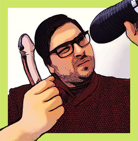 Awesome bio image for The Big Gay Review, used with permission