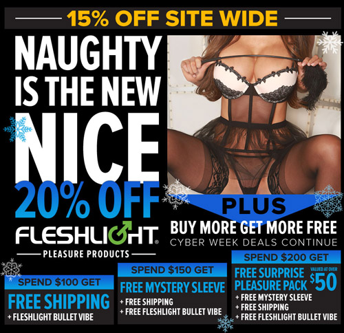15-20% off sitewide at Fleshlight!