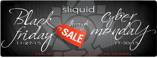 15% off storewide plus existing coupons at Sliquid!