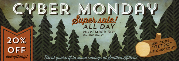 20% off everything at Smitten Kitten for Cyber Monday!