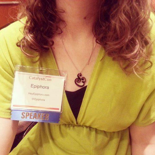 "This ""SPEAKER"" badge made me feel very legit"