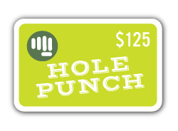 $125 gift card to Hole Punch Toys