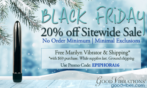 20% off sitewide at Good VIbes + free Marilyn vibrator with code EPIPHORA16