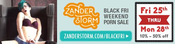 Zander Storm Black Friday weekend porn sale