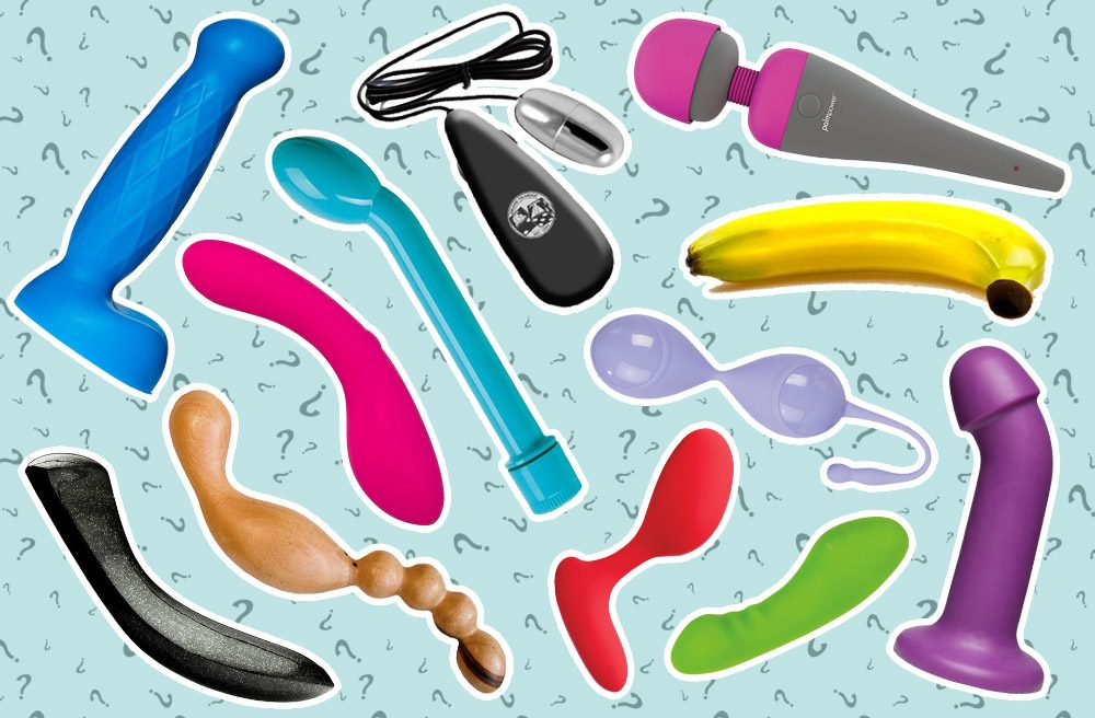 Collage of various toys. Pick a sex toy, any sex toy!
