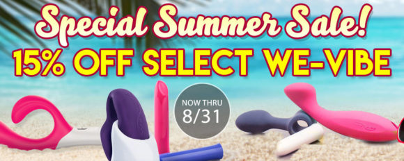 15% off select We-Vibe toys at SheVibe through 8/31!