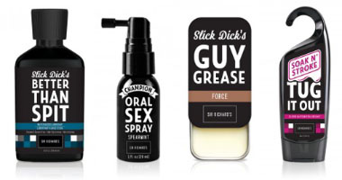 Horrible lubes and sprays from Sir Richard's and Jimmyjane