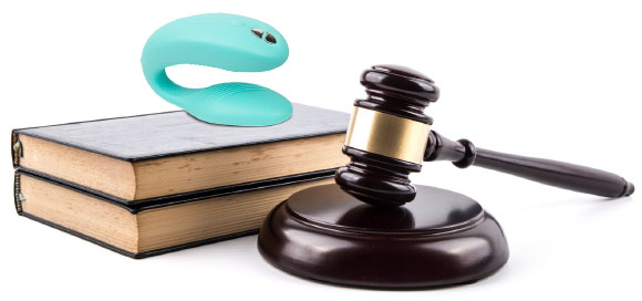 We-Vibe Sync vibrator with gavel