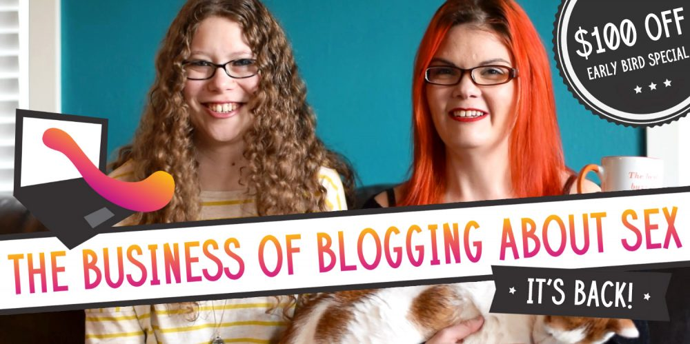 The Business of Blogging About Sex is back! Me and JoEllen Notte looking cute and erady to teach.