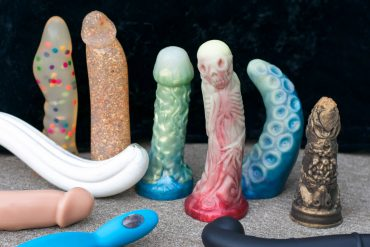 Sex toys from defunct manufacturers Jollies, Whipspider Rubberworks, Eros & Isis, Fucking Sculptures, Papaya Toys, and Ophoria