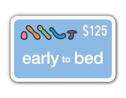$125 credit to the gender expression category on Early to Bed