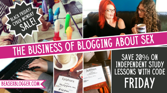 20% off all Business of Blogging About Sex coursework with code FRIDAY!