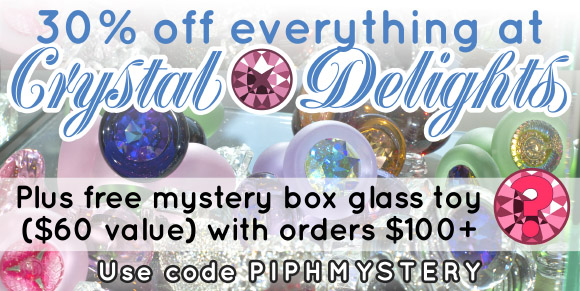 30% off everything at Crystal Delights, plus free mystery box glass toy with orders over $100!