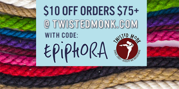 10% off orders over $75 at Twisted Monk with code EPIPHORA.