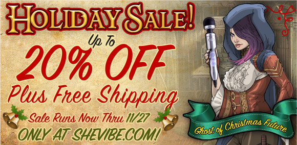 Up to 20% off everything plus free shipping at SheVibe!