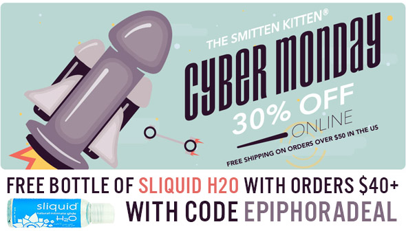 30% off everything at Smitten Kitten, plus free bottle of lube with orders over $40 with code EPIPHORADEAL