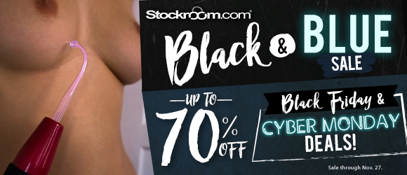 Up to 70% off select products at Stockroom, plus free bondage rope with orders over $99!