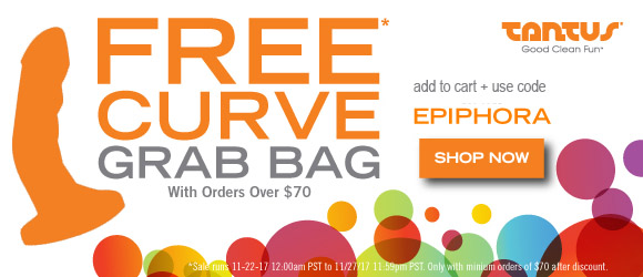 Free Curve grab bag dildo with orders over $70 at Tantus with code EPIPHORA