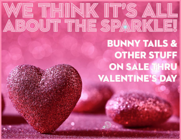 Get 15% off your order at Crystal Delights through the end of January with code VDAY18, plus bunny tails and more on sale through Valentine's Day!