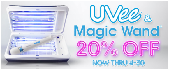 20% off the UVee & Magic Wand combo through 4/30!
