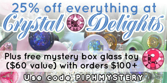 25% off everything at Crystal Delights, plus free mystery box glass toy with orders over $100!