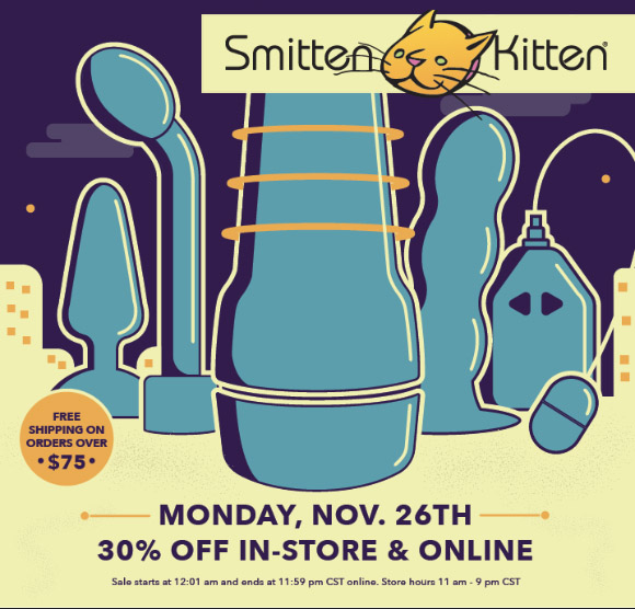 30% off everything at Smitten Kitten on Cyber Monday