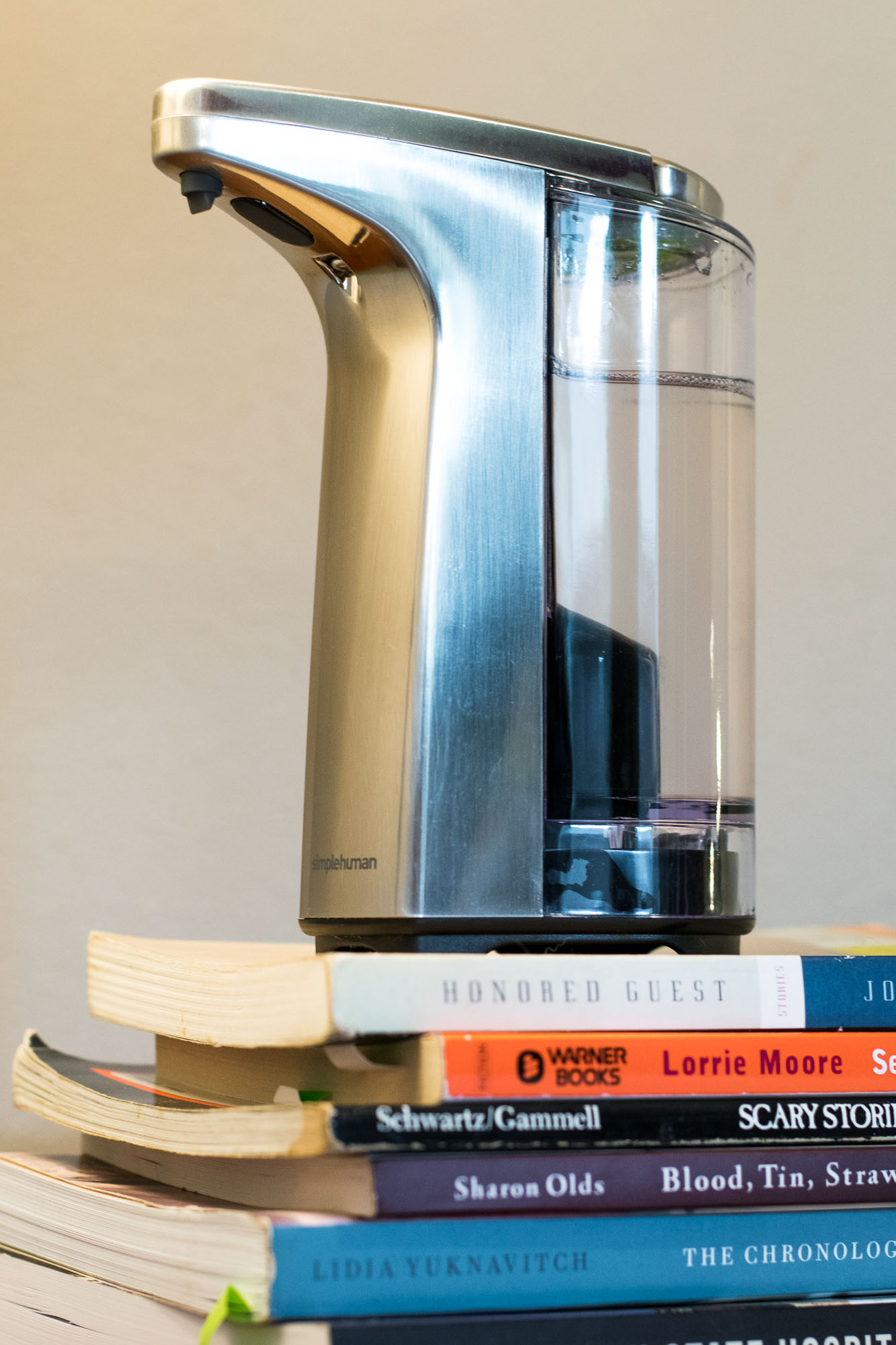 THE KING REIGNS. simplehuman Sensor Pump automatic soap dispenser with lube in it.