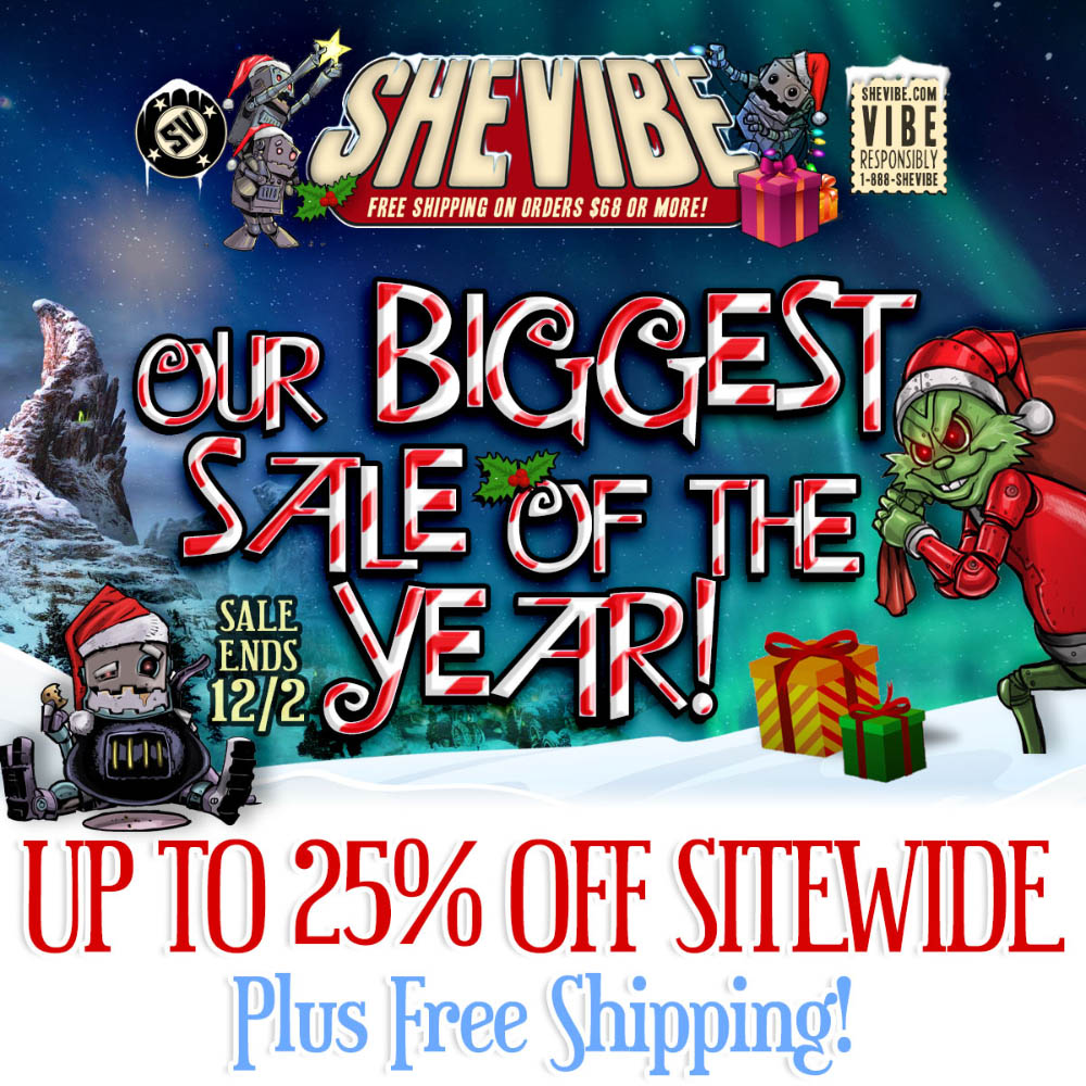 Up to 25% off sitewide plus free shipping at SheVibe!