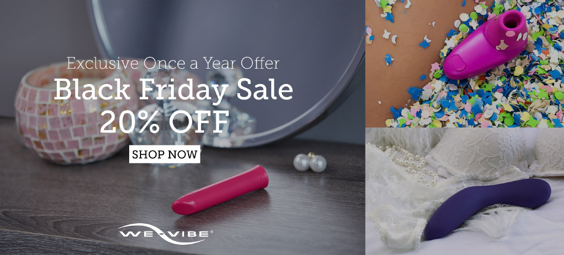 20% off everything at We-Vibe and Womanizer!